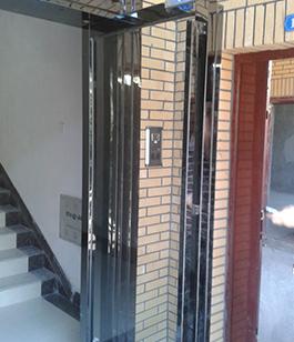 钛金板入户单元门